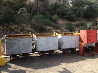 le petit train de la mine
