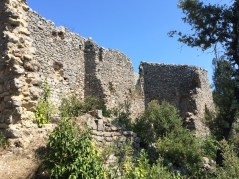 Ruines et second rempart