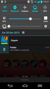 LG G2 Notification Bar