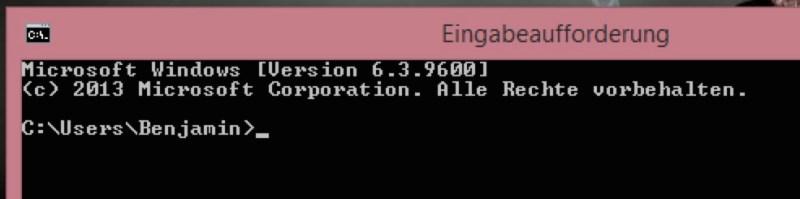 Windows Eingabeaufforderung