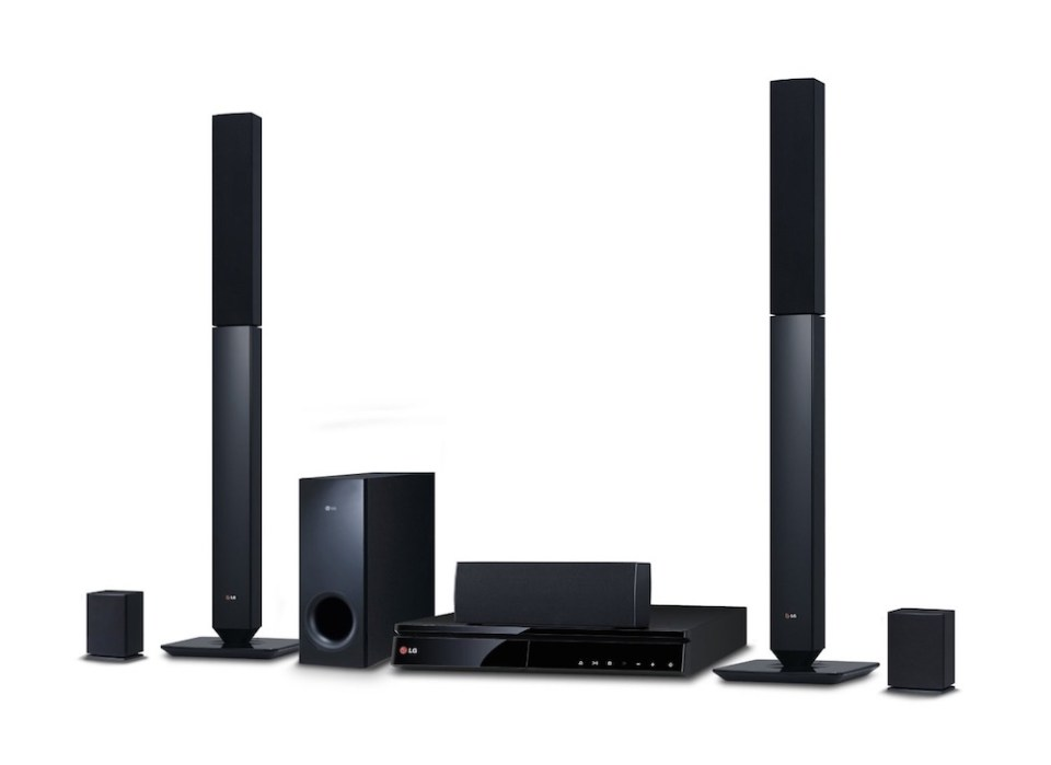 Heimkinoanlage von LG mit Blu-ray Player und Lautsprechern (Bild: LG.com)