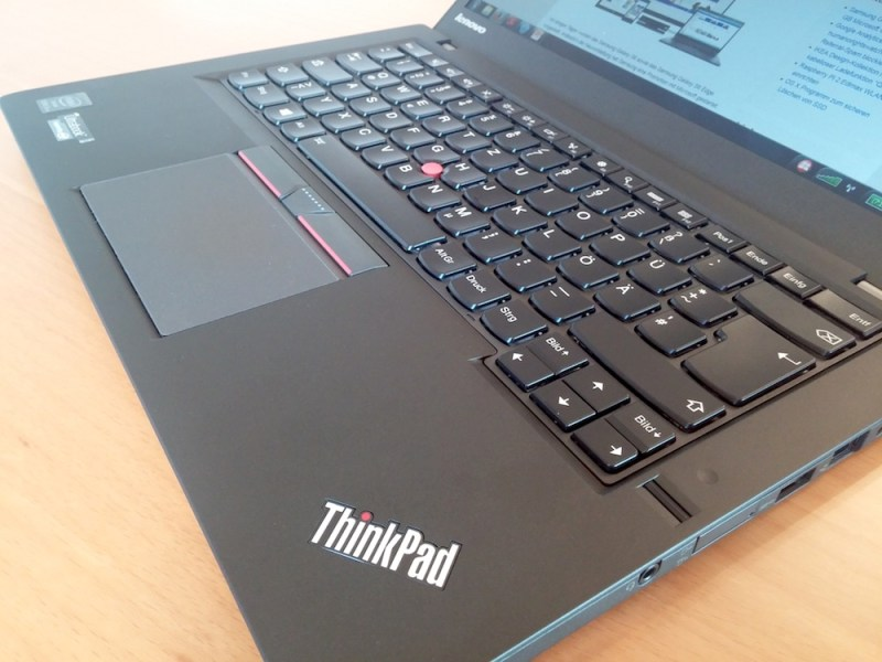 Die Tastatur des T450s ist sehr gut (Bild: Copyright Benjamin Blessing).