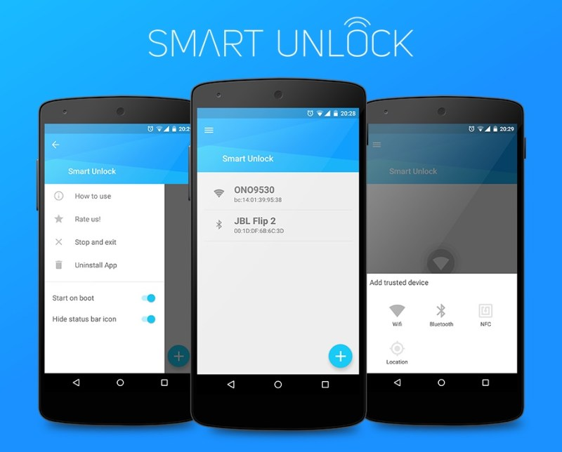 Smart Unlock für Android (Bild: XDA-Developer Forum).