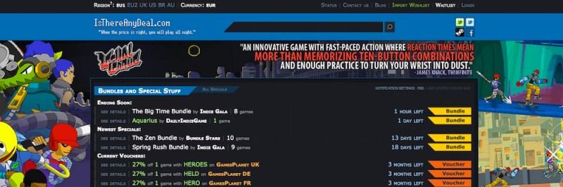 Isthereanydeal.com zeigt außer dem Preis keine weiteren Informationen zum Onlineshop (Bild: Screenshot isthereanydeal.com).
