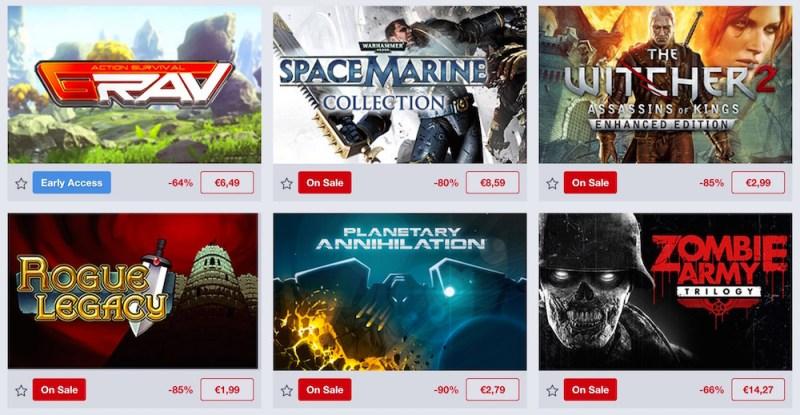 Humble Store Sommerschlussverkauf (Bild: Screenshot Humble Store).