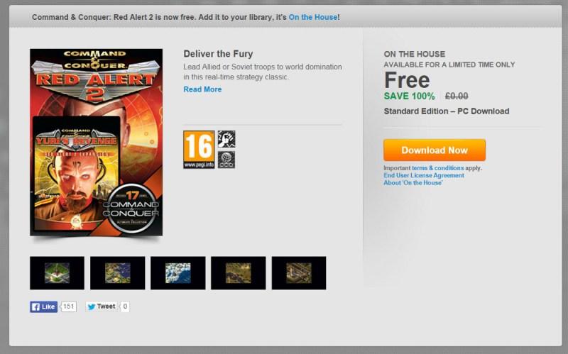 Command & Conquer Alarmstufe Rot 2 und Yuris Rache kostenlos (Bild: Screenshot Origin).