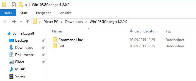 Um das Programm zu starten, ist die entsprechende EXE im Ordner GUI auszuführen (Bild: Screenshot Windows 10).
