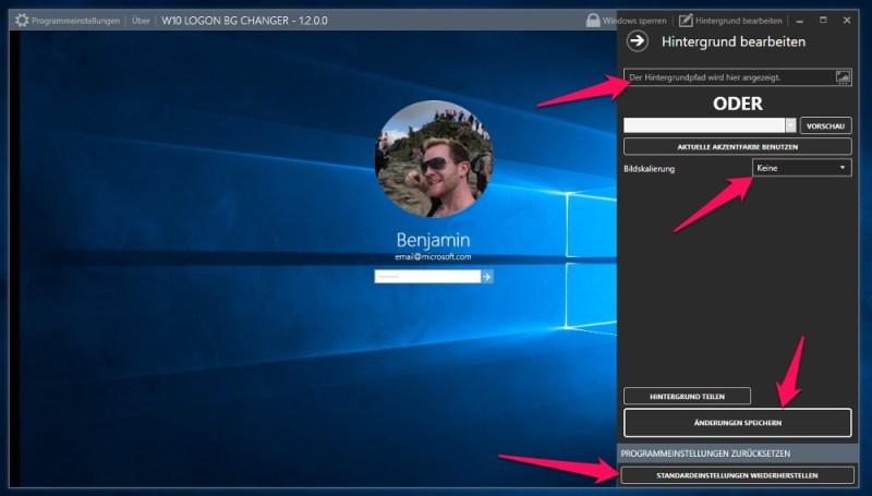Der Windows 10 Login Hintergrund ist in wenigen Sekunden angepasst (Bild: Screenshot Windows 10).