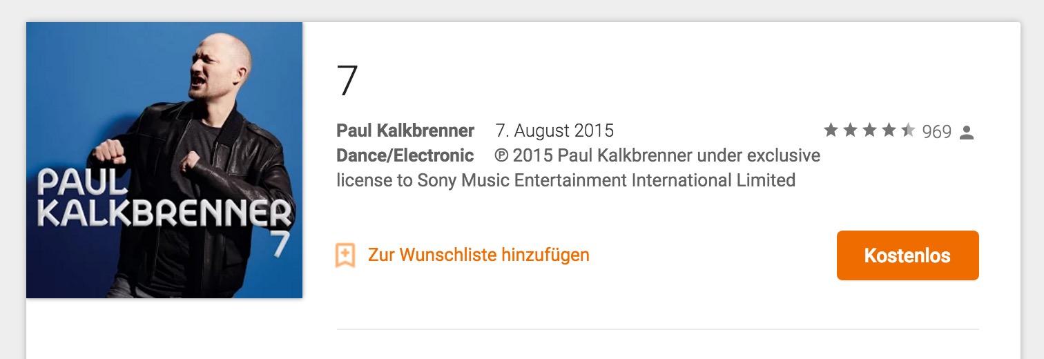 Paul Kalkbrenner - 7 kostenlos