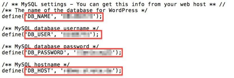WordPress wp-config.php editieren