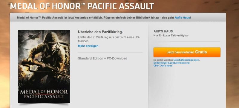 Medal of Honor Pacific Assault kostenlos