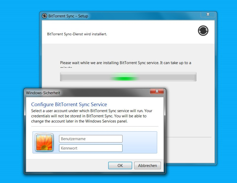Resilio Sync als Windows Service installieren