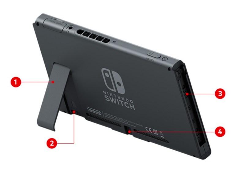 Nintendo Switch Rückseite