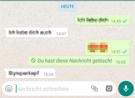Gelöschte WhatsApp Nachrichten lesen