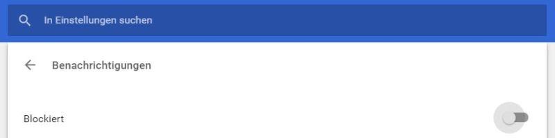 Chrome Benachrichtigungen deaktivieren