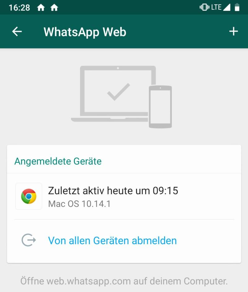 WhatsApp Web Verbindung trennen