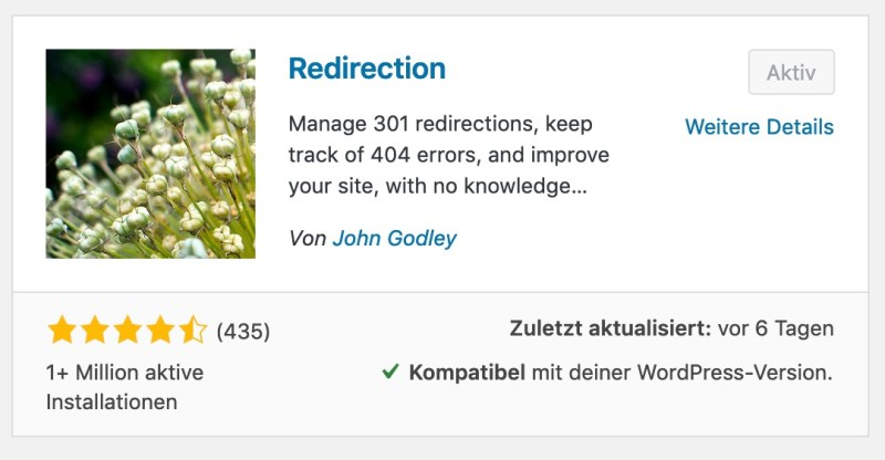 Redirection WordPress Plugin