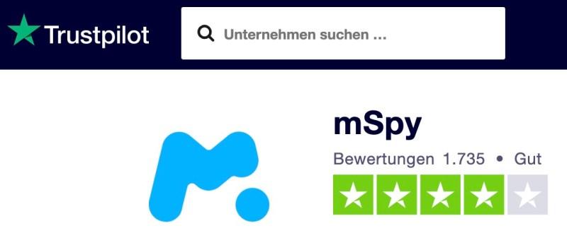 mSpy auf Trustpilot 2020