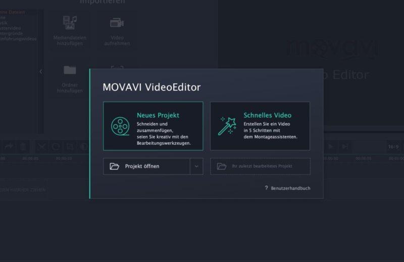 Movavi Video Editor 15 Video erstellen