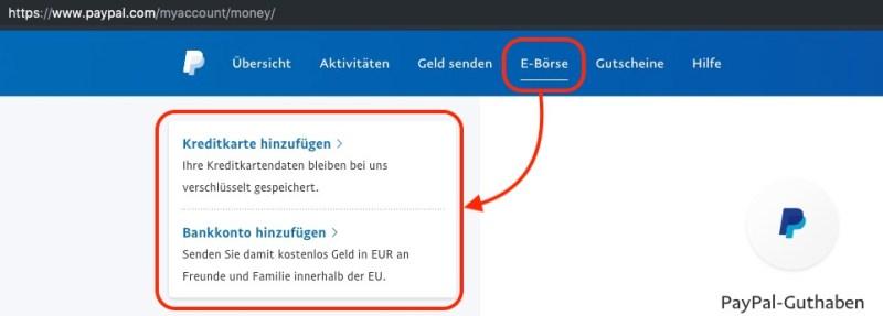 PayPal Limit aufheben