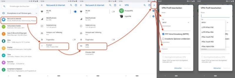 VPN auf Google Handy einrichten