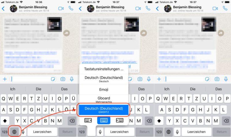 iPhone Tastatur ohne Umlaute einstellen