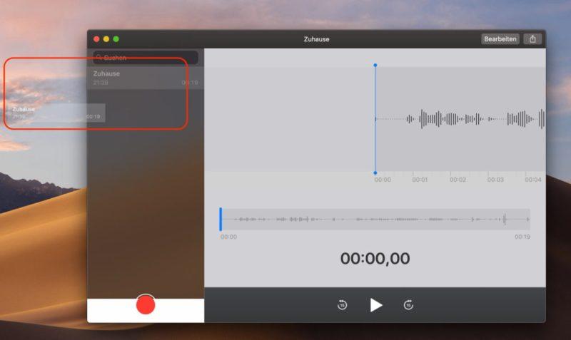 Apple Sprachmemos Dateien exportieren