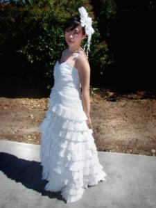 RandomCandies com     I Just Saw Some Toilet Paper Dresses  Toilet Paper Wedding Dress