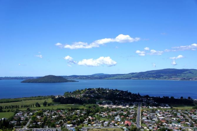 Rotorua View from Top of Mountain