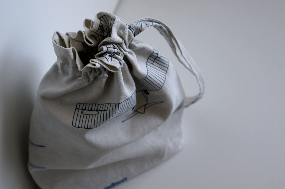 Simple Lined drawstring bag