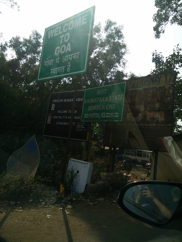 Welcome to Goa (Karnataka - Goa Border)