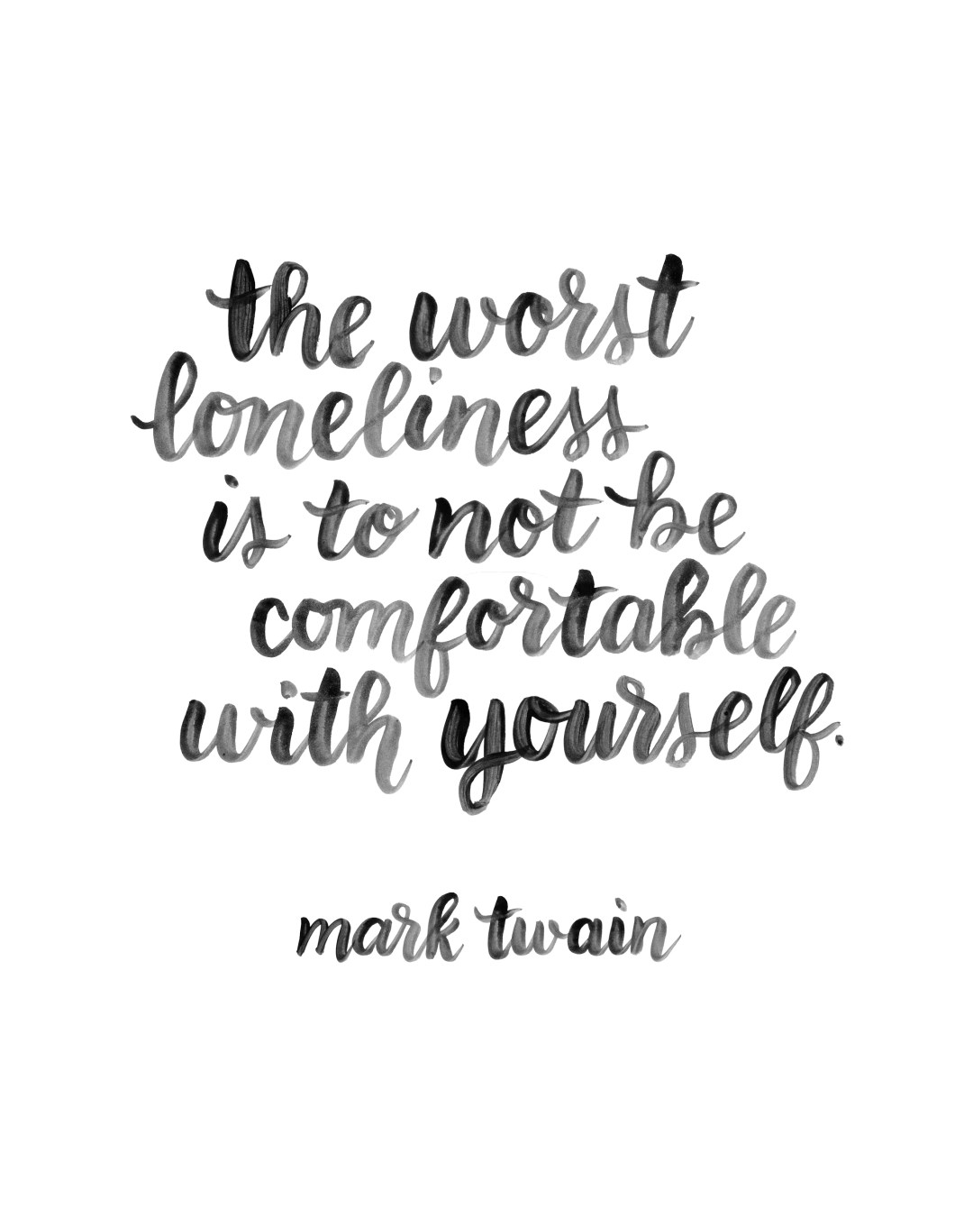 Free Lettered Mark Twain Quote - www.randomolive.com