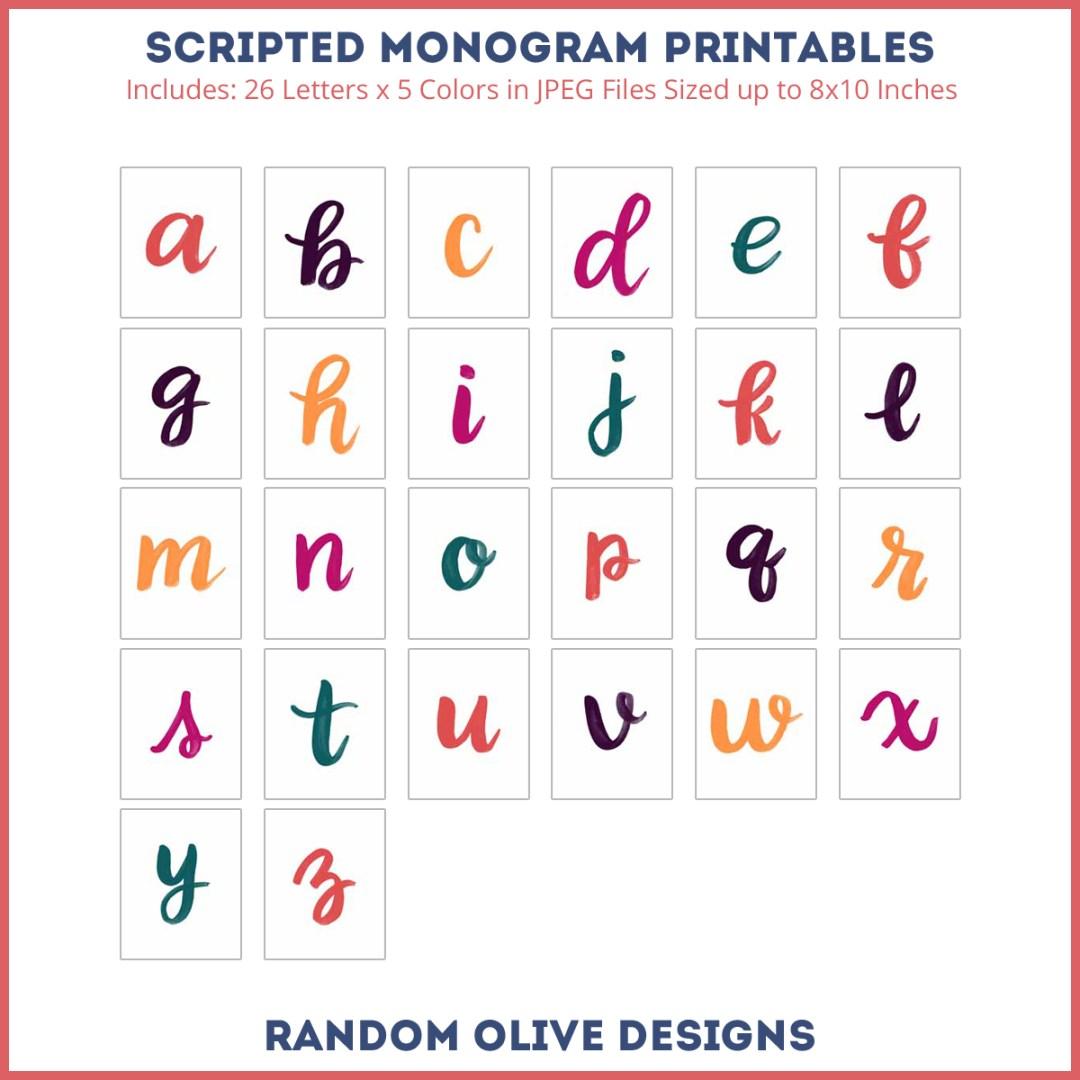 random-olive-alpha-script-monogram-8x10