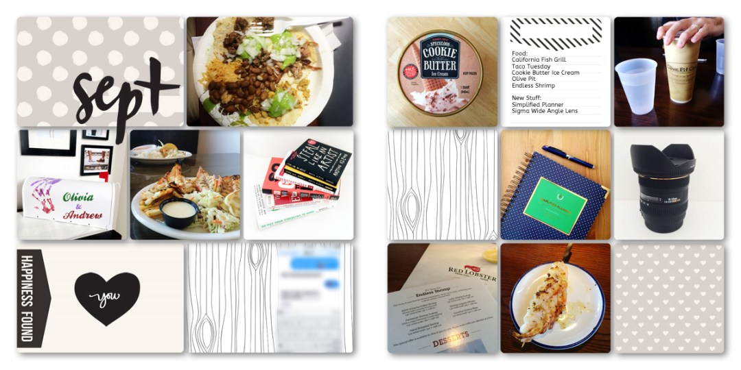 Digital Project Life Layouts: September 2014