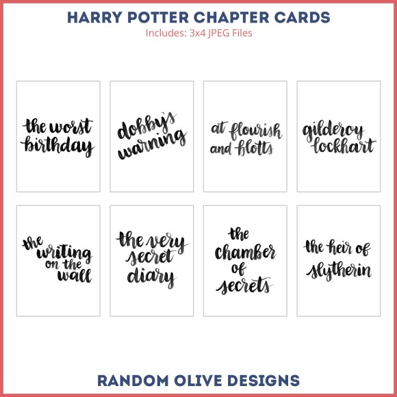 Free Harry Potter Title Cards - www.randomolive.com