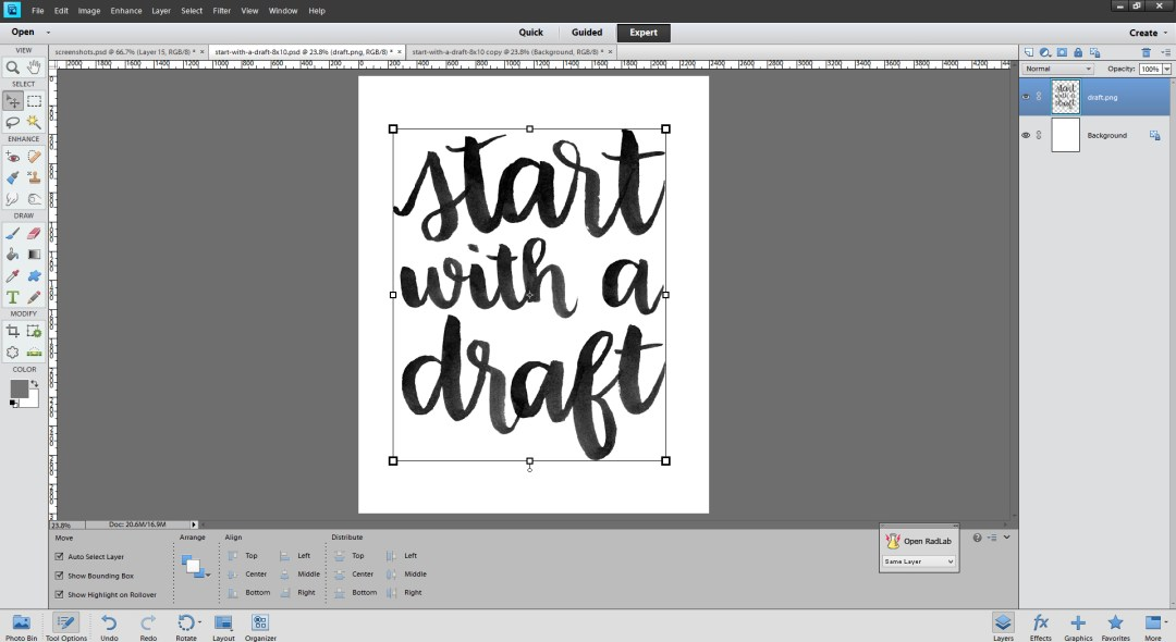 Brush Lettering and Digitizing Process - www.randomolive.com