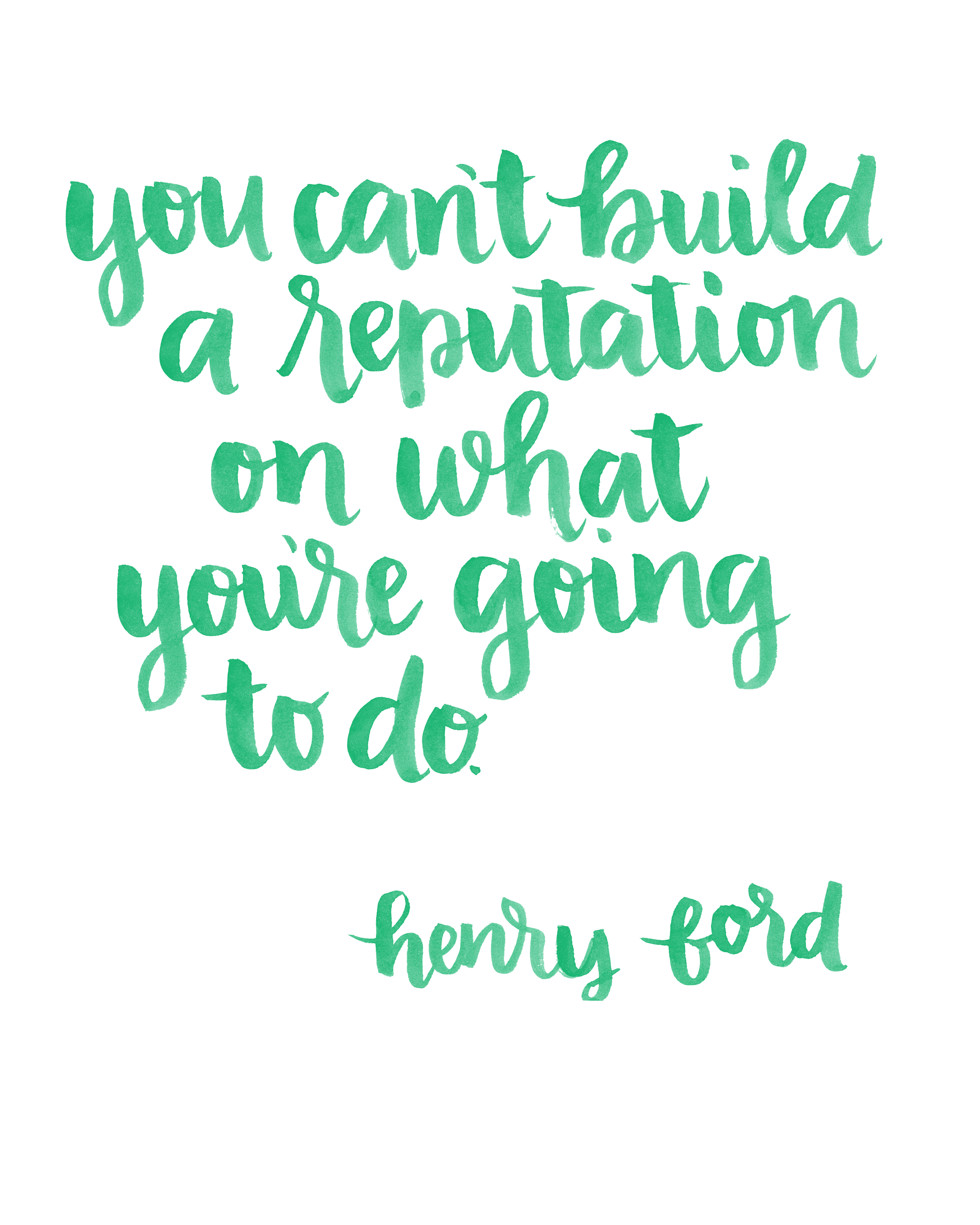 Ford Quote Presents For You Brush Lettered Ford Quote  Random Olive