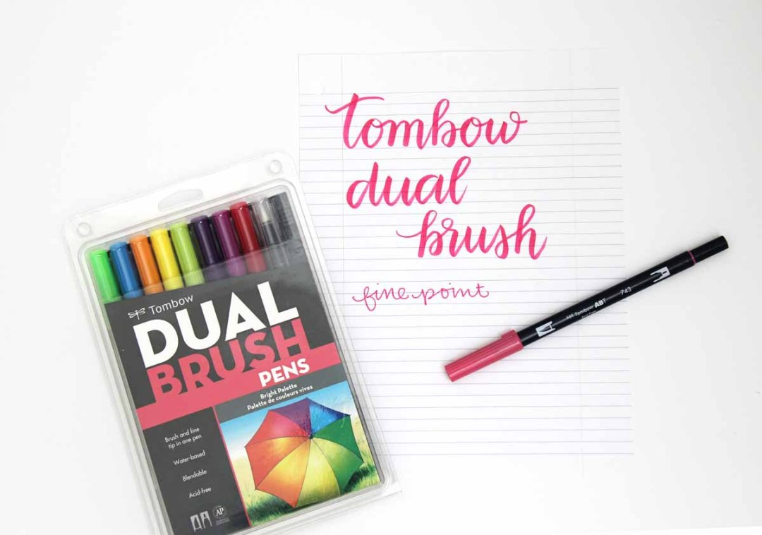 Brush Markers for Lettering - www.randomolive.com