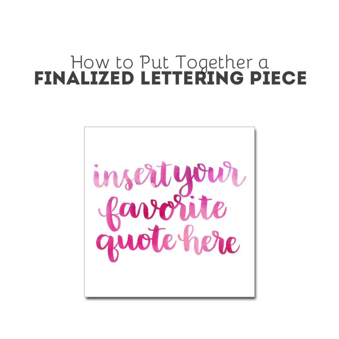 Digitizing Your Brush Lettering - www.randomolive.com