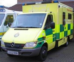 New shiny ambulance