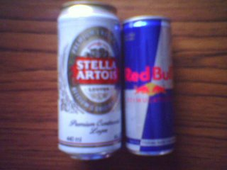 Red Bull and Stella