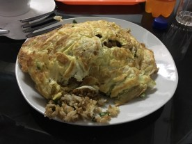 Arroz Chaufa (basically special fried rice) and Tortilla de Verduras - perfect for a hungry cyclist!