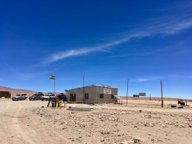 The Bolivian immigration post and the border!