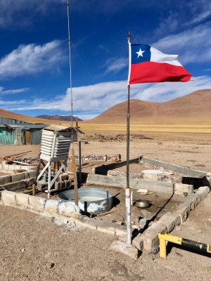 The battered weather station told a tale of its own - it's an incredibly inhospitable environment up here