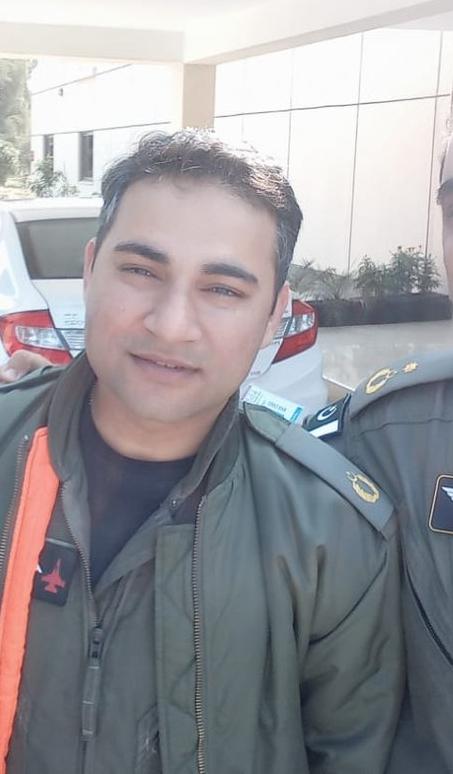 PAF Pilot Squadron Leader Hassan Siddiqui