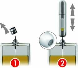 Travelo refillable mini pocket travel spray - refilling