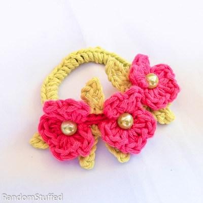 סריגת תכשיטים – צמיד פרחים