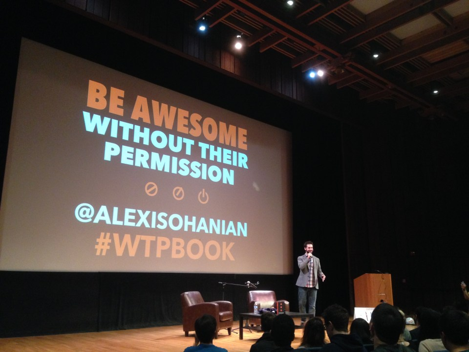 Alexis Ohanian at Wheeler Auditorium