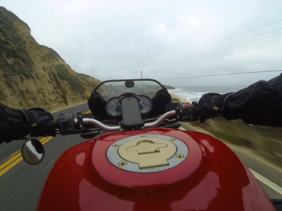 Ducati Monster on the Pacific Coast Highway