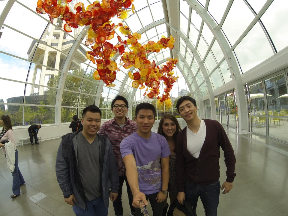 Group photo at Chihuly Garden and Glass